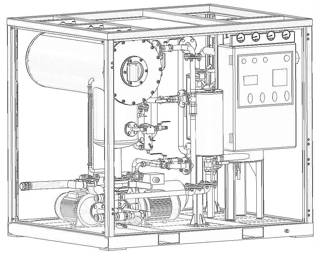 oil purification plant 3D diagram