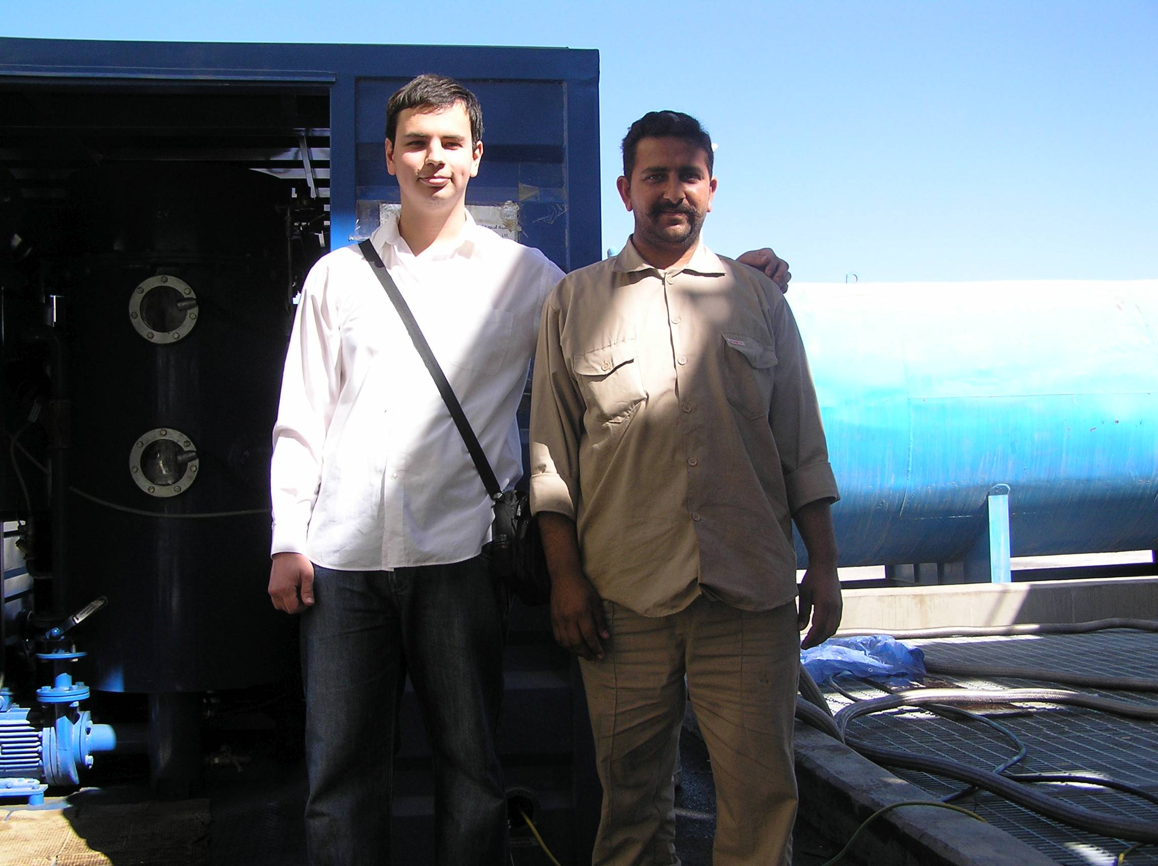GlobeCore's engineer with a collegue from Saudi Arabia after successful start of equipment