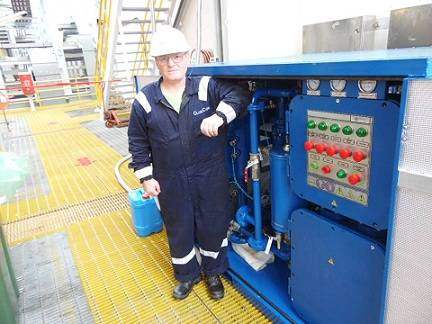 Commissioning of the GlobeCore Clean  Marine Unit at the Offshore Drilling Platform