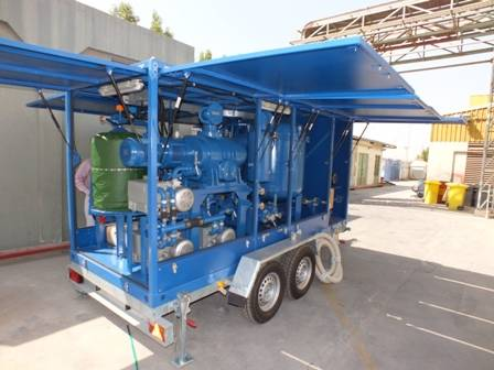 Globecore has received an order for Purification Plant and Mobile Transformer Oil Reclamation