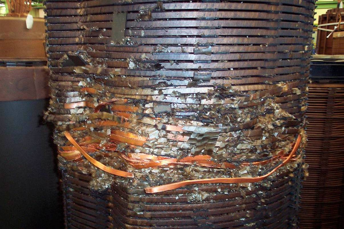 transformer winding is damaged because of lack of oil reclamaiton